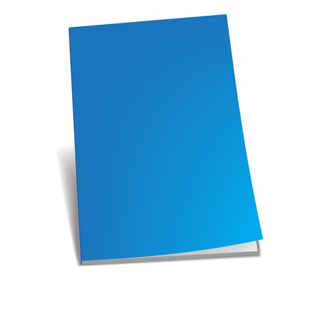 Empty blue brochure Stock Vector - 18984000