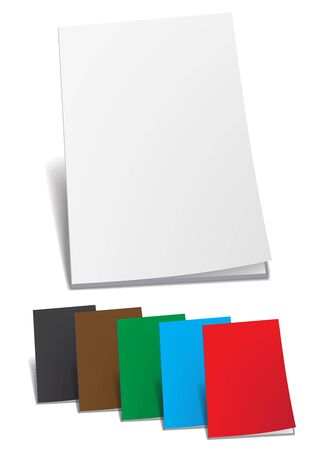 Empty color brochure photo