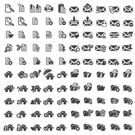Set of universal web icons