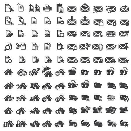 Set van universele web pictogrammen
