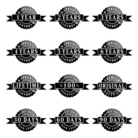 Set of 100  guarantee labels Vector