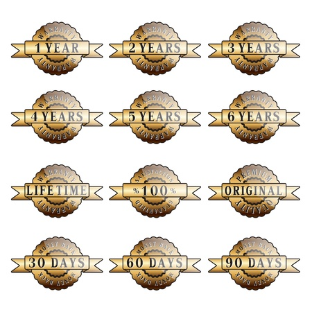 Set of 100  guarantee golden labels Vector