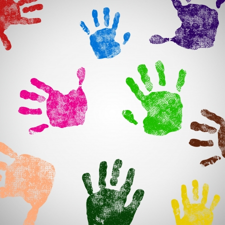 hand print: Colored Hand Print icon