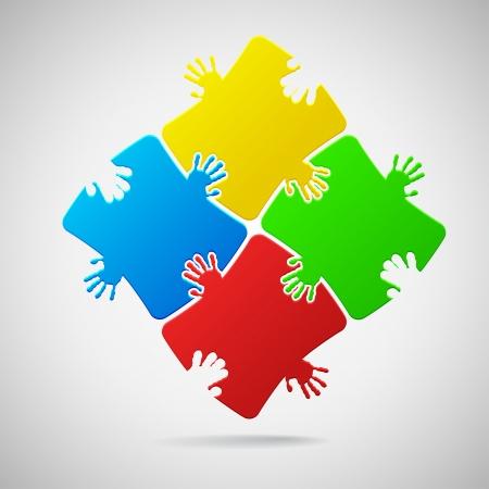 entreprise puzzle: Puzzle color� Illustration