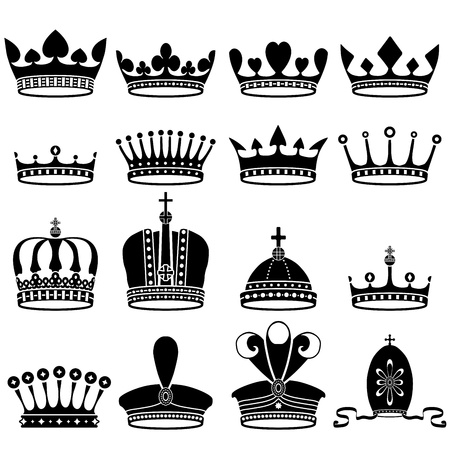 royal person: set of crowns Illustration