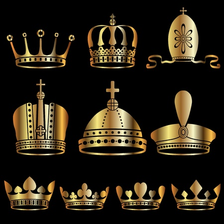 majestic: set of crowns Illustration