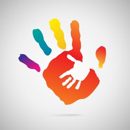 vieze handen: Hand Print icoon Stock Illustratie