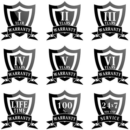 Set of 100  guarantee labels Vector
