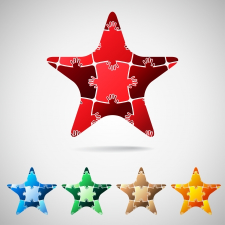 Star from puzzle pieces Vector