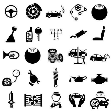 maschinenteile: Set von Auto-Reparatur Icons Vektor-Illustration Illustration