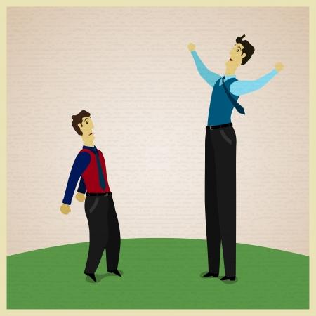 swear: Big and small businessmens swear. Vector illustration Illustration