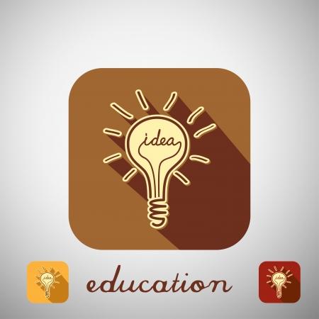 Big education icon with shadow. Vector illustration. Stock Vector - 24013441