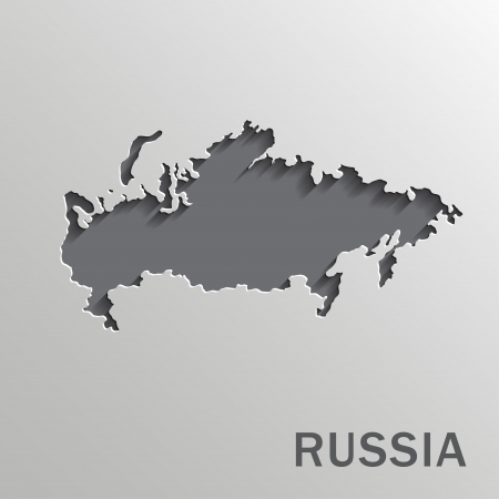 russland karte: Vektor-Papier-russland-Karte auf einem wei�en Hintergrund