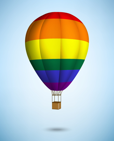 transgender: hot air balloon on blue sky background. Vector.