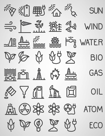 wind icon: Energy and resource icon set. Vector illustration
