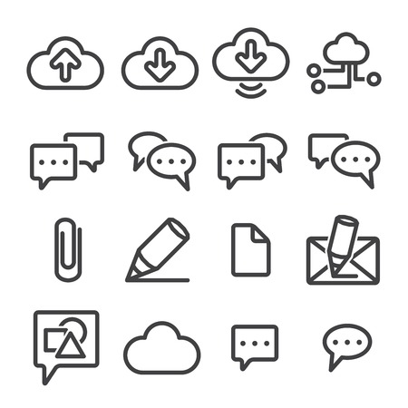 wifi sign: Set phone icon on white background. Vector.