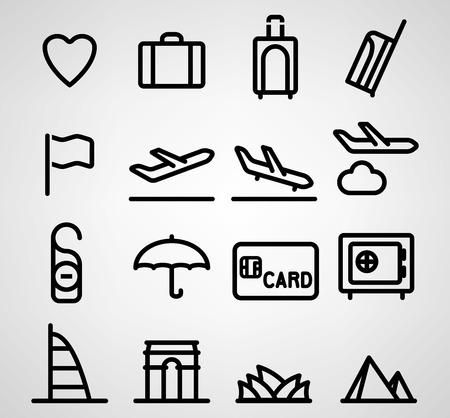 Travel and tourism vector icon on white background Vector