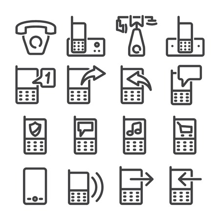 Set phone icon on white background. Vector. photo