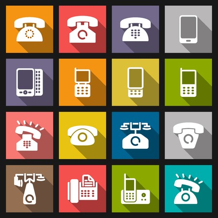 Set phone icon on white background. Vector. Vector