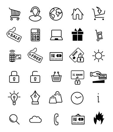 white goods: shopping icon for web design.