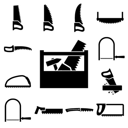 toolkit: Set of icons of tools on white background