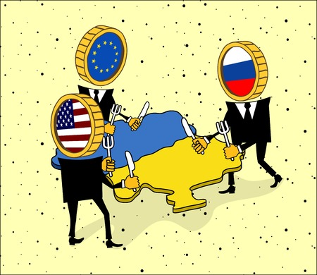 big brother spy: Europe, America and Russia want to eat a small Ukraine.