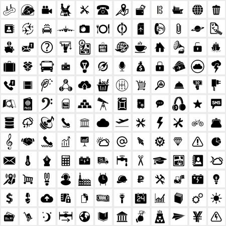 Universal web icon vector on white background Ilustração