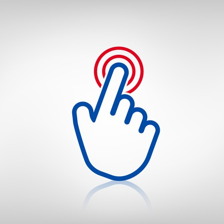 ring finger: Click icon on white background