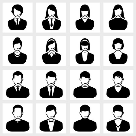 ceo: Users icon vector black on white background