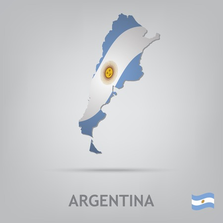 argentine: The flag of the country in the form of borders