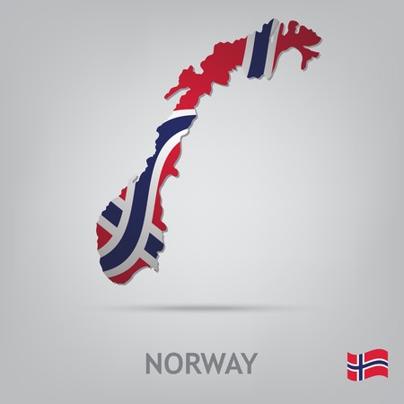 norway flag: The flag of the country in the form of borders