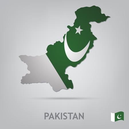pakistan flag: The flag of the country in the form of borders