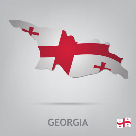 georgia flag: The flag of the country in the form of borders