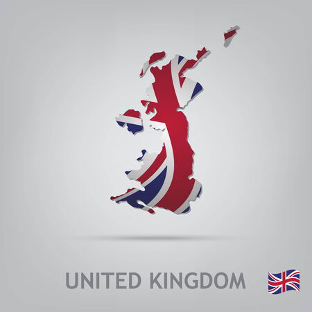 uk flag: The flag of the country in the form of borders