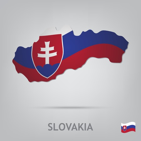slovakia flag: The flag of the country in the form of borders