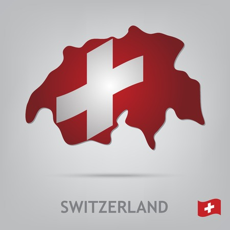 swiss insignia: The flag of the country in the form of borders