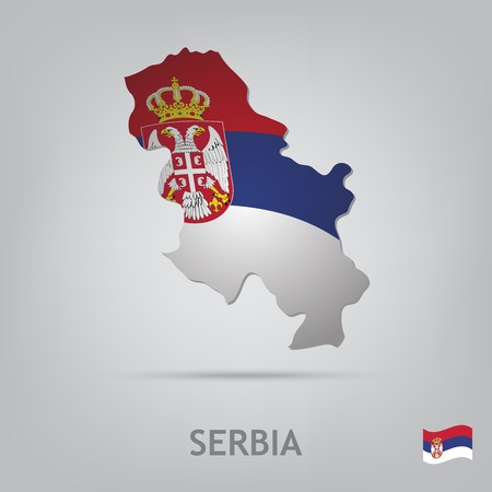 serbia flag: The flag of the country in the form of borders