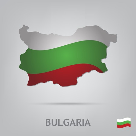 bulgaria: The flag of the country in the form of borders