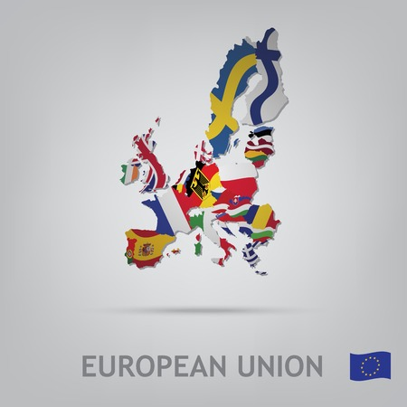 all european flags: The flag of the country in the form of borders
