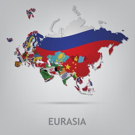 russia map: The flag of the country in the form of borders