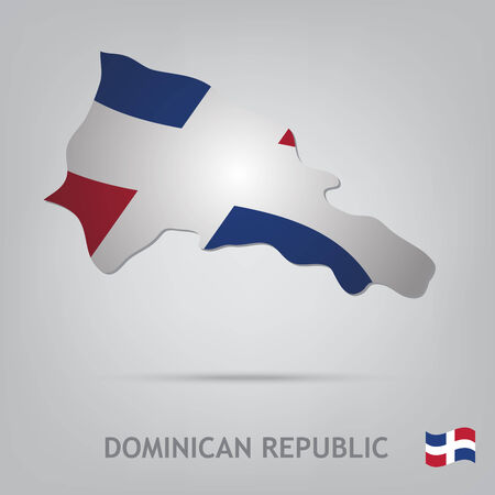 dominican republic: The flag of the country in the form of borders