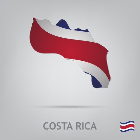 costa rica flag: The flag of the country in the form of borders
