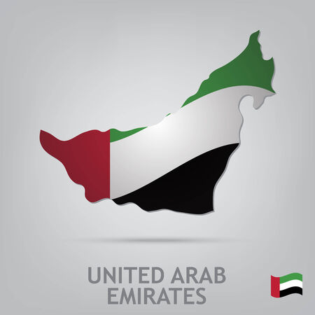 arab flags: The flag of the country in the form of borders