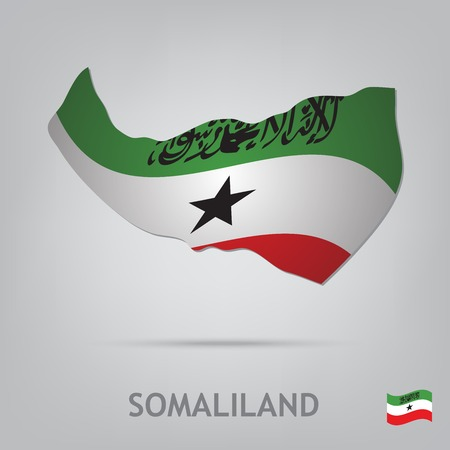 somaliland: The flag of the country in the form of borders