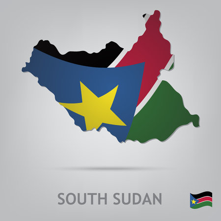 sudan: The flag of the country in the form of borders