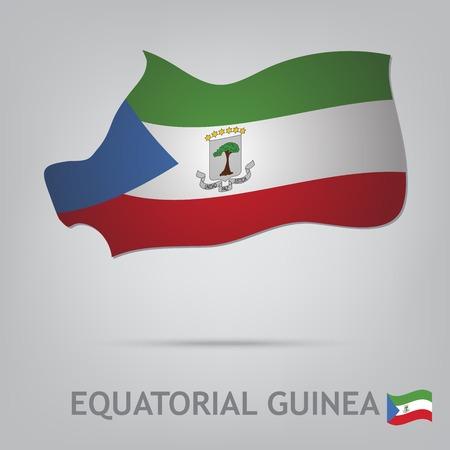 La bandera del país en forma de fronteras Ilustración de vector