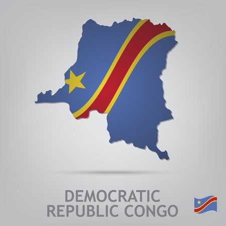 republic of the congo: The flag of the country in the form of borders