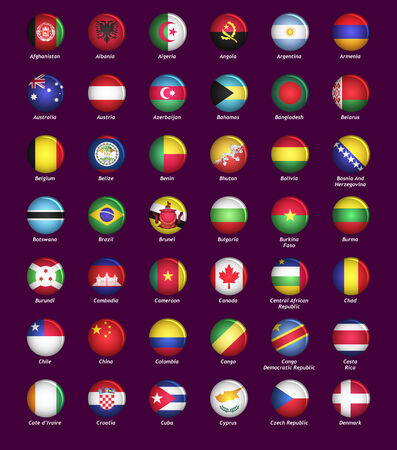 world flags: Set of buttons with flags part I