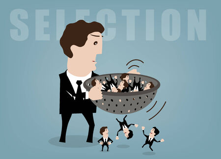 vector illustration concepts for human resources management Illustration