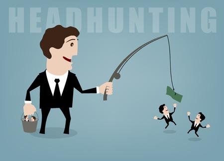 headhunter: vector illustration concepts for human resources management Illustration